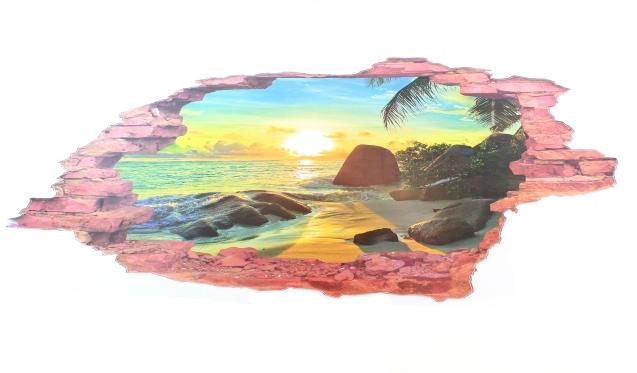 "3D lipdukas ""Paplūdimys"" 60 x 90 cm"