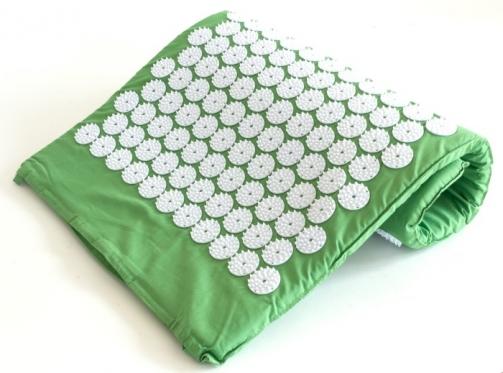 Akupresūros kilimėlis, 73 x 44 x 2 cm (žalias, baltas)