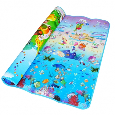 """Dvipusis edukacinis kilimėlis """"Jūrų pasaulis"""", 190 x 170 x 0,4 cm"""