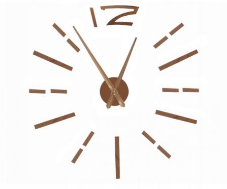 Reguliuojamo dydžio sieninis laikrodis, rudas