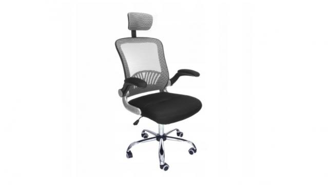 Biuro kėdė su orui laidžiu atlošu ir galvos atrama