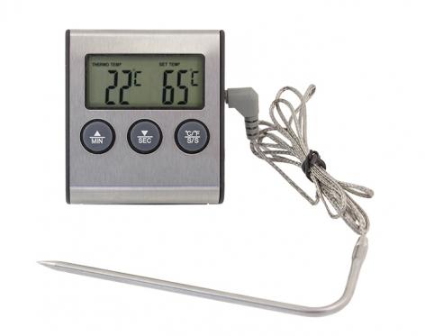 Elektroninis termometras griliui, 6,4 x 7,0 x 1,7 cm