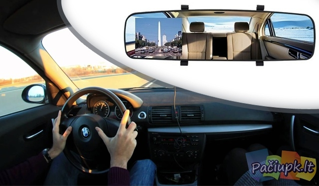 Vaizdo registratorius - veidrodėlis DVR S600