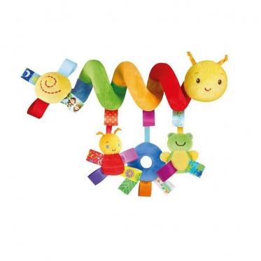 Žaisliukai tvirtinami prie vežimėlio rankenos