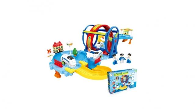"""Žaislų rinkinys """"Traukinio bėgiai ir besisukantis ratas"""""""