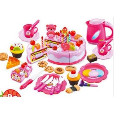 """Žaislų rinkinys """"Gimtadienis"""", 80 vnt (rožinis)"""