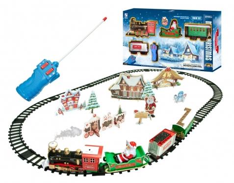 """Žaislų rinkinys su Kalėdinėmis dekoracijomis """"Traukinio bėgiai ir traukinys"""""""