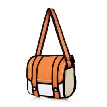 """Rankinė """"3D piešinys"""", 35 x 28 x 8 cm (oranžinė)"""