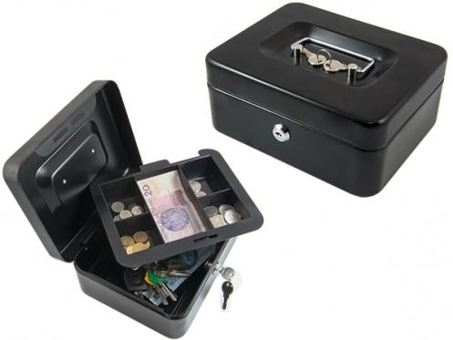 Pinigų dėžutė, 20 x 16 x 9 cm (juoda)