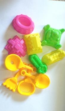 Kinetinio smėlio žaislų rinkinys, 10 vnt