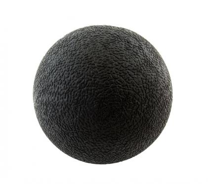Juodas masažo kamuolys, 5,6 x 5,6 cm