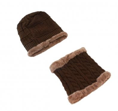 Rudas kepurės ir šaliko komplektas, 28 x 24 cm