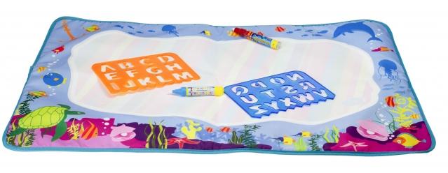 Edukacinis vandens kilimėlis vaikams, 73 x 49 cm;
