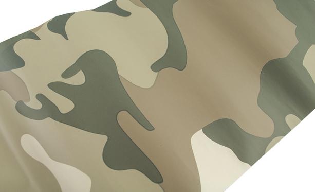 Lygaus matinio paviršiaus termoplastinė plėvelė, 1,52 x 0,1 m (šviesus kamufliažas)