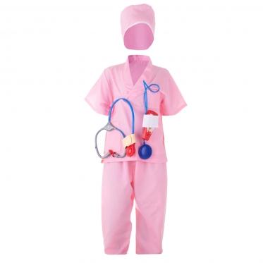 Vaikiškas Chirurgo kostiumas, rožinis