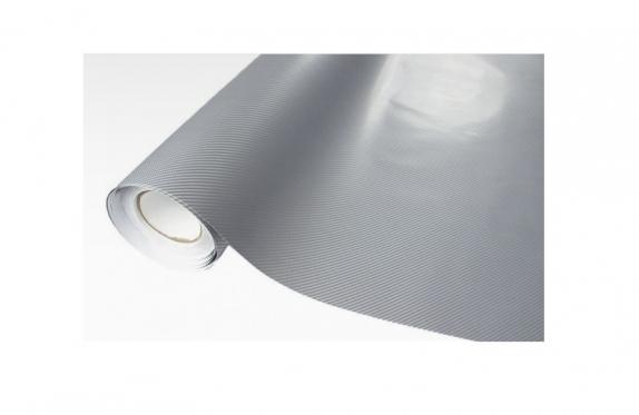 4D termoplastinė anglies plėvelė automobilio kėbului, 1,52 x 0,1 m (sidabrinė)