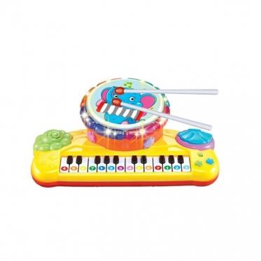 Žaislinis pianinas su būgneliu, 32 x 20 x 12 cm