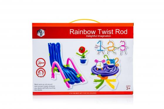 """Edukacinis žaidimas """"Rainbow Twist Rod"""", 98 detalės"""