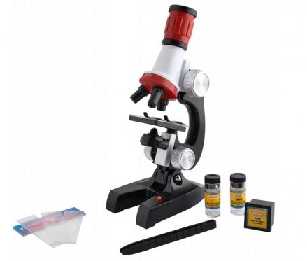 Žaislinis mikroskopas su priedais, 22 x 12 x 7,5 cm