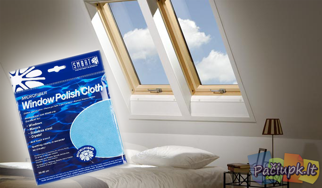 "Šluostė langams blizginti ""Smart Window Polish Cloth"""