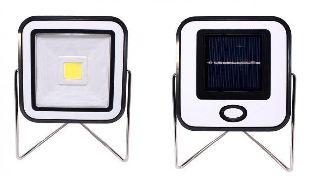 Halogeninis LED šviestuvas su saulės baterijos skydeliu, 12 x 12 cm
