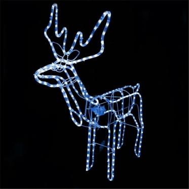 "Kalėdinė 3D dekoracija ""Mėlynas Elnias"", 80 x 90 x 42 cm"