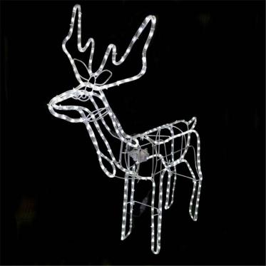 """Kalėdinė 3D dekoracija """"Baltas Elnias"""", 80 x 90 x 42 cm"""