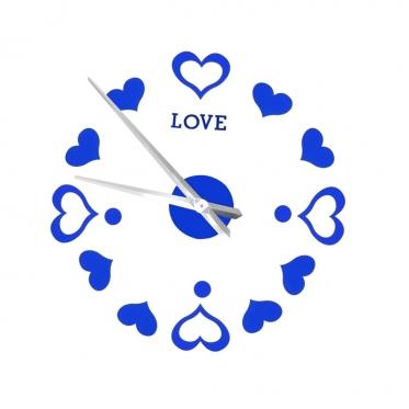 """Sieninis laikrodis """"Love"""", Ø 65 - 130 cm (mėlynas)"""