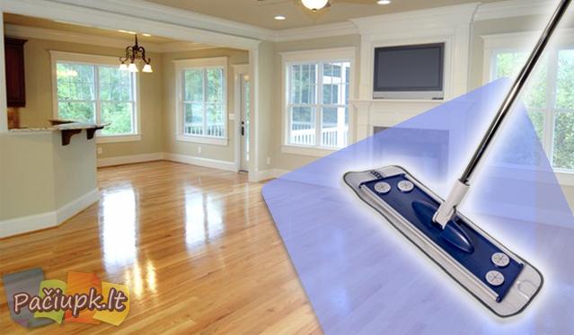 """""""Smart 3in1 MOPP"""" grindų šepetys su išskleidžiamu kotu"""