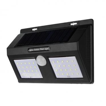 Saulės energijos belaidis 40 LED šviestuvas su judesio davikliu