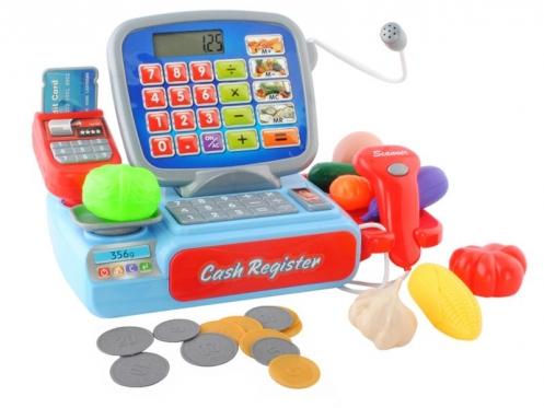 Žaislinis kasos aparatas, 26,5 x 17 x 14 cm