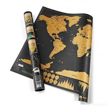 Nutrinamas pasaulio žemėlapis, 82 x 59 cm