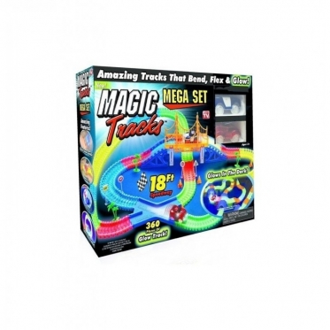 """Lenktynių trasa ir dvi mašinėlės """"Magic tracks"""", 360 dalių"""