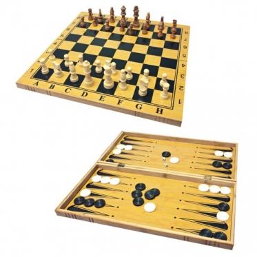 Šachmatų ir nardų žaidimo lenta, 47,5 x 47,5 x 2,5 cm