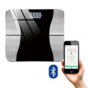 """Skaitmeninės svarstyklės su """"Bluetooth"""", 29 x 26 x 2,5 cm"""