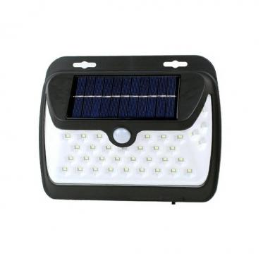 Saulės energijos belaidis 38 LED šviestuvas su judesio davikliu