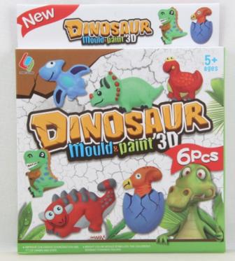 """Menininis žaidimas """"Dinozauras 3D"""", 6 vnt"""