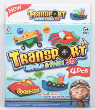 """Menininis žaidimas """"Transportas 3D"""", 4 vnt"""