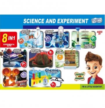 Žaislinis jaunojo mokslininko rinkinys, 8 eksperimentai