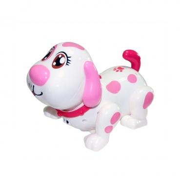 """Interaktyvus žaislas """"Šuniukas"""" (baltas su rožinėmis dėmėmis)"""