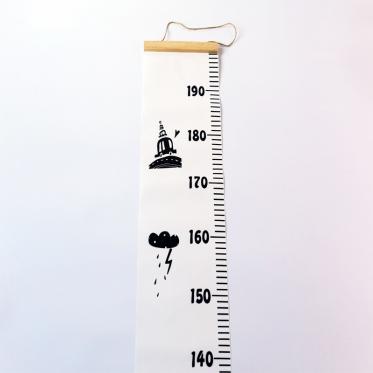 Vaikų ūgio matavimo juosta, 200 x 20 cm