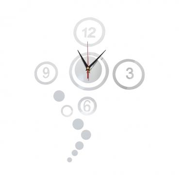 Keturių skaitmenų sieninis laikrodis, Ø 15 - 40 x 60 cm