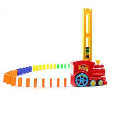 Domino kaladėlės su lokomotyvu, 100 vnt