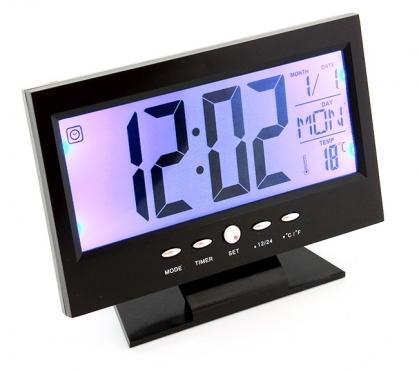 Stalinis laikrodis su žadintuvu ir termometru