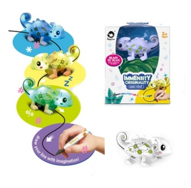"Indukcinis žaislas ""Chameleonas"", 10,5 x 6 x 5 cm"