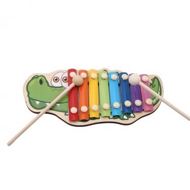 """Žaislinis metalofonas """"Krokodilas"""", 8 klavišų"""