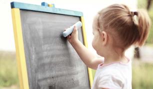 Vaikų kūrybiškumui - piešimo kreida lenta