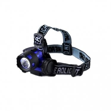 LED žibintuvėlis su dirželiu ant galvos