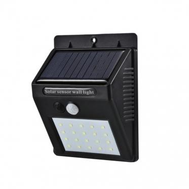Belaidis saulės energijos šviestuvas su judesio davikliu, 12,5 x 9,5 x 5 cm
