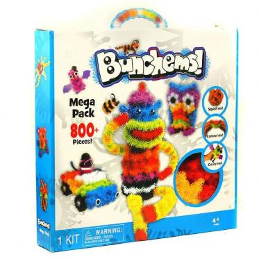 Tarpusavyje limpantys kamuoliukai - vaikų kūrybiškumui lavinti (800 dalių)
